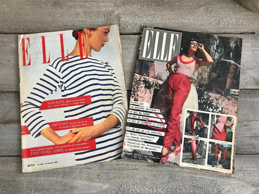 Lit Pour Jeune Homme 1 1950s elle, french fashion magazine, june, july, mid century magazine  journal, advertisement, gossip, hollywood glamjansvintagestuff from  jan's