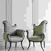 Pair of Grosfeld House Empire Style Chairs