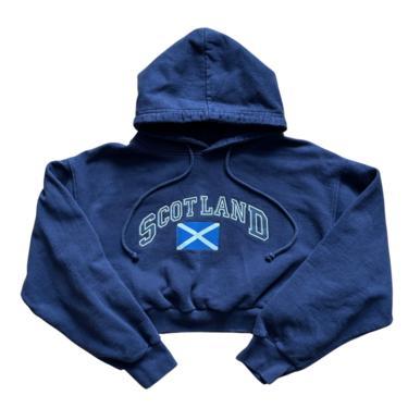 L\/S Navy Scotland Crop Hoody