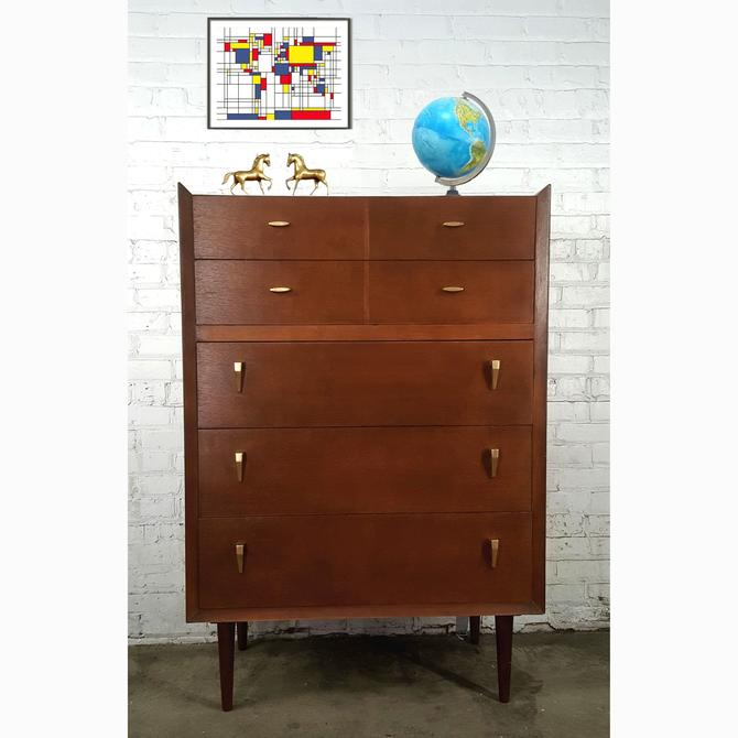 Slim Slick Fabulous MCM Tall Dresser Highboy
