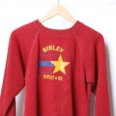 vintage Sibley IOWA 1970s 80s faded super soft vintage sweatshirt - men's medium by CairoVintage
