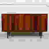 Condo Sized (54.5″) Danish Rosewood Sideboard / Media Cabinet