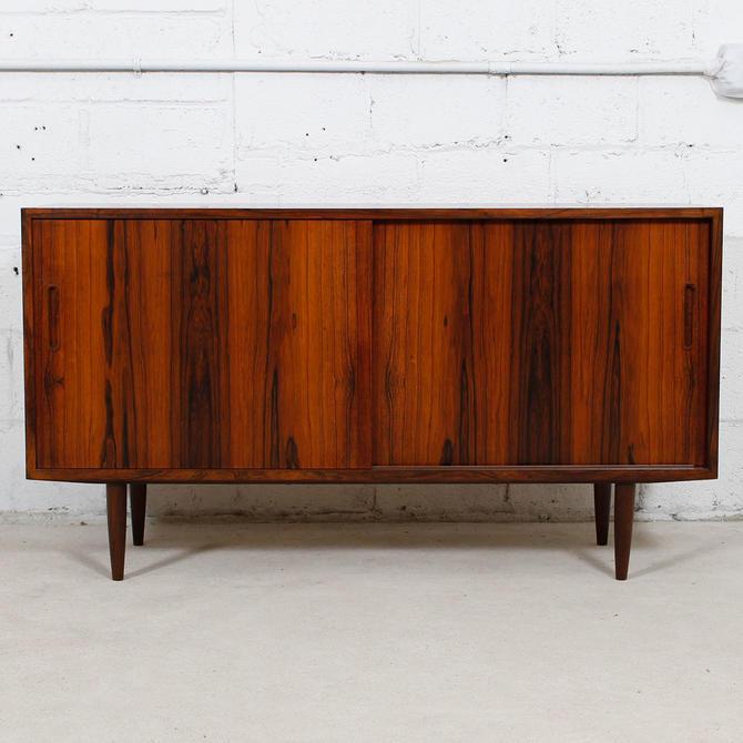 Condo Sized (54.5″) Danish Rosewood Sideboard / Media Cabinet