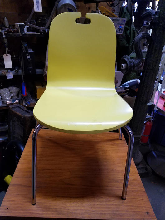 Cute Little Yellow Chair 23.5 x 13