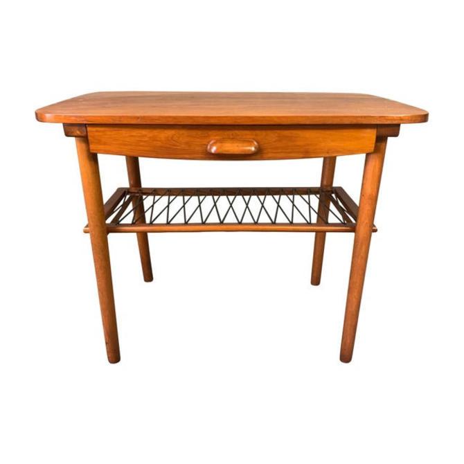 Vintage Danish Mid Century Modern Teak End Table by AymerickModern