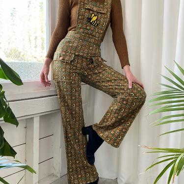 70s Printed Overalls