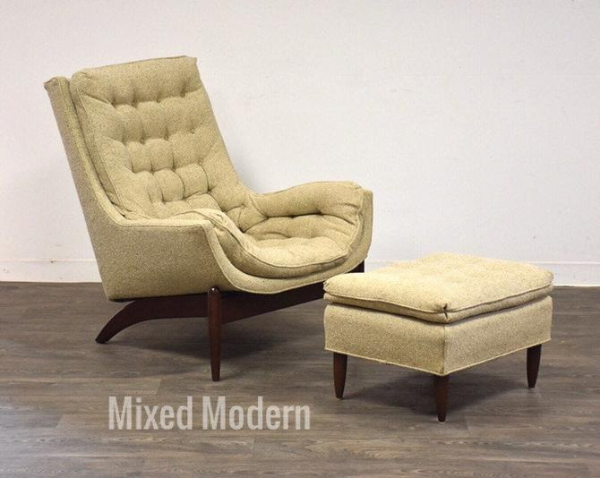 Adrian Pearsall Style Lounge Chair and Ottoman by mixedmodern1