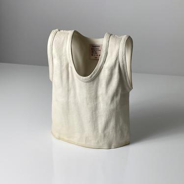 Vintage Michael Harvey Pop Art Ceramic T Shirt Vase 1980s by 20cModern