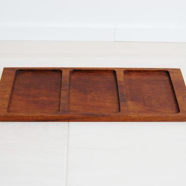 Danish Modern Genuine Teak Wood Rectangular Tray Made in Denmark by MidCentury55