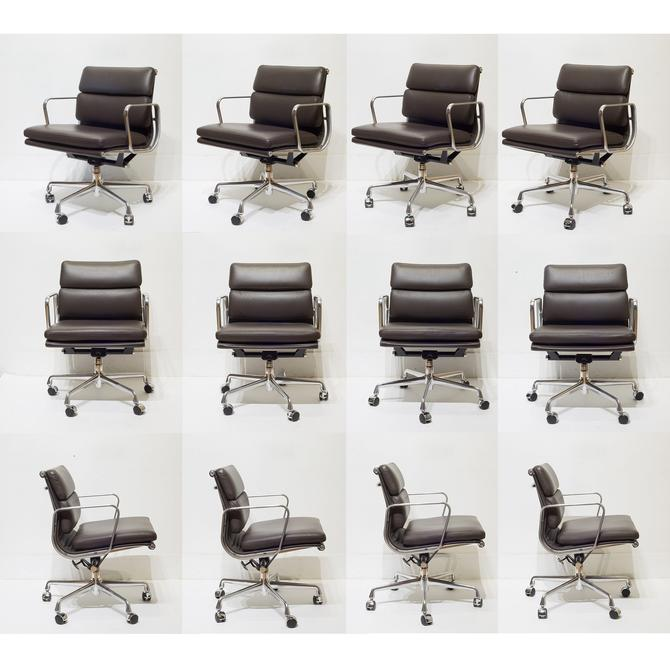 Herman Miller Soft Pad Leather Office Management Chairs