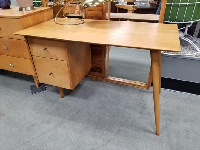 Mid-Century Modern maple desk by Paul McCobb