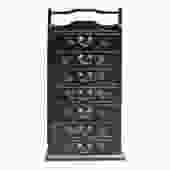 Oriental Chinese Black Golden Butterflies  8 Drawers File Storage Cabinet cs5194S