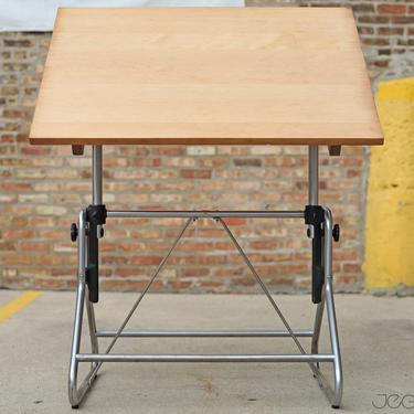 vintage adjustable drafting table by the Frederick Post Co by jeglova