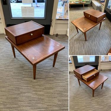 Vintage American of Martinsville Side Table with Drawer!