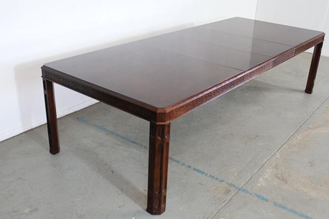 """Chinese Chippendale Burled Mahogany 118"""" Dining Table by AnnexMarketplace"""