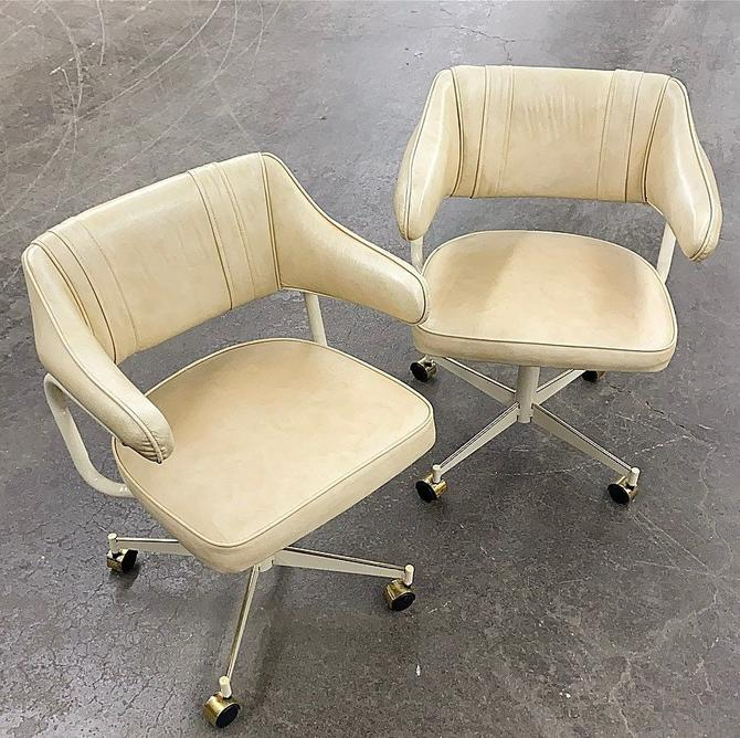 LOCAL PICKUP ONLY ———— Vintage Stoneville Rolling Chairs by RetrospectVintage215