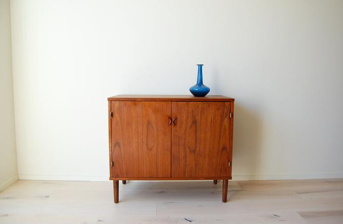 Scandinavian Teak Small Storage Cabinet Credenza by MidCentury55