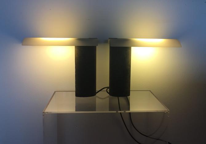 """Pair of Modern Koch & Lowy """"Wings"""" Table Lamps by Piotr Sierakowski c.1980's by ModandOzzie"""