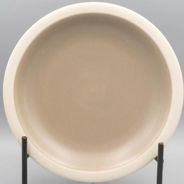 Heath Ceramics Rim Line Mocha Dinner Plate   Vintage California Pottery Stoneware   Mid-century Modern Dinnerware   Matte Glaze by MostlyMidCenturySF