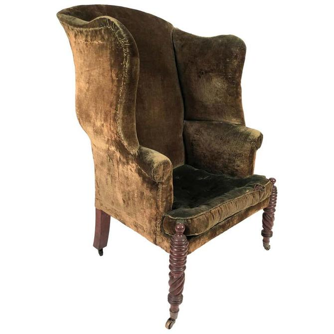 American Federal Period Wingback Chair from Portsmouth, New Hampshire