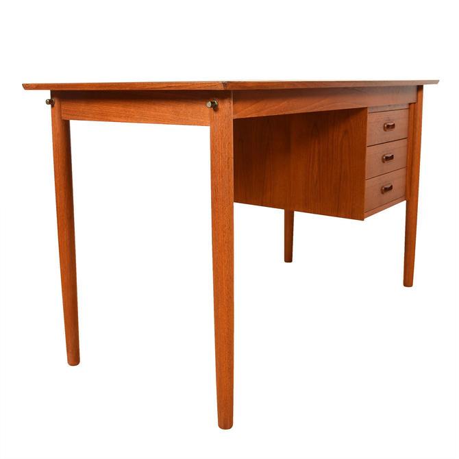 Danish Modern Teak Desk w/ Adjustable Drawers