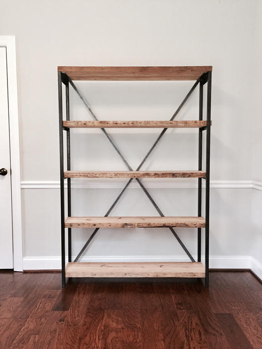 The RILEY  Bookshelf - Reclaimed Wood Bookshelf - Multiple Sizes Available by arcandtimber