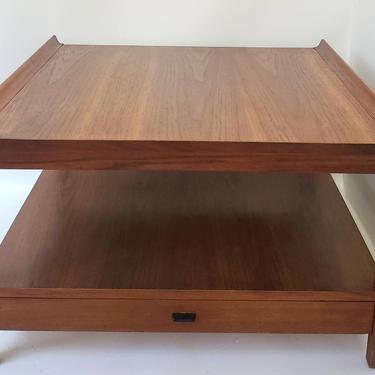 Mid Century Modern Walnut End Table or Coffee Table Nightstand Entryway Table Low Profile Danish Modern Living Room Paul Mccobb by MakingMidCenturyMod