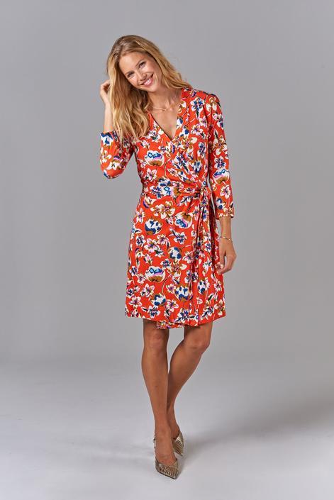 Rachel Wrap Dress | Georgia Blossoms in Citrus