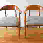 Mid Century Modern Pair of Arm Chairs