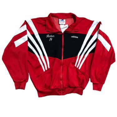 (M) Adidas Black/Red Bandits Soccer Track Jacket 091521 LM