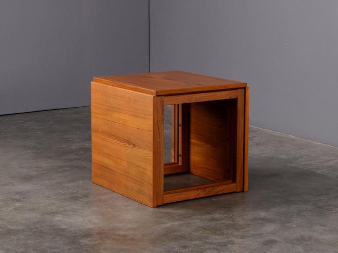 Kai Kristiansen Nesting Tables Mid Century Danish Modern Teak by MadsenModern