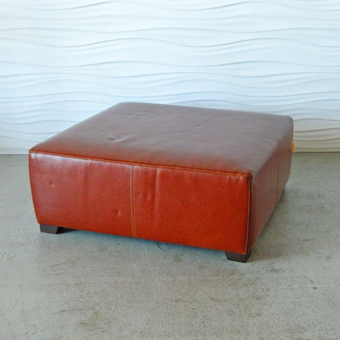 HA-C8169 XL Square Leather Ottoman