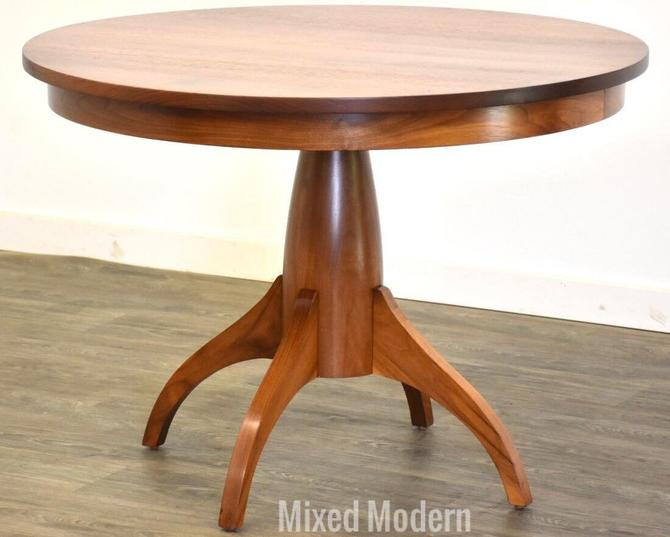 Modern Solid Walnut Round Dining Table by mixedmodern1