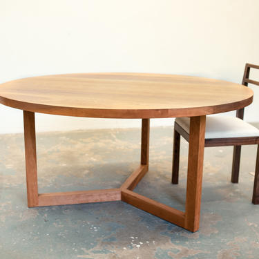 Cherry Round Dining Table By Dylangrey