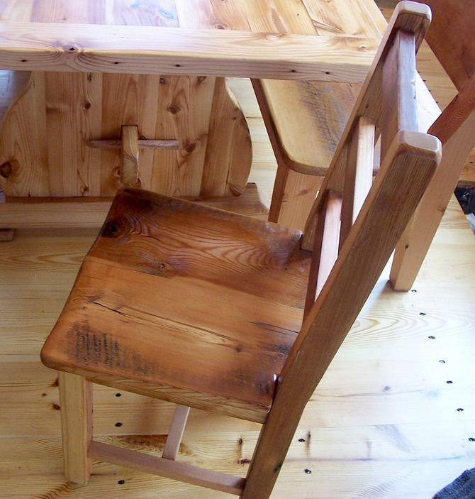 Sensational Reclaimed Antique Heart Pine Rustic Dining Chairs By Interior Design Ideas Lukepblogthenellocom