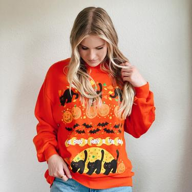 Vintage Halloween Sweater Sweatshirt by MadroneClothing
