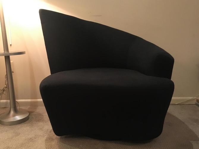 Vladimir Kagan angled club chair . by ClassicAntiquesPHL