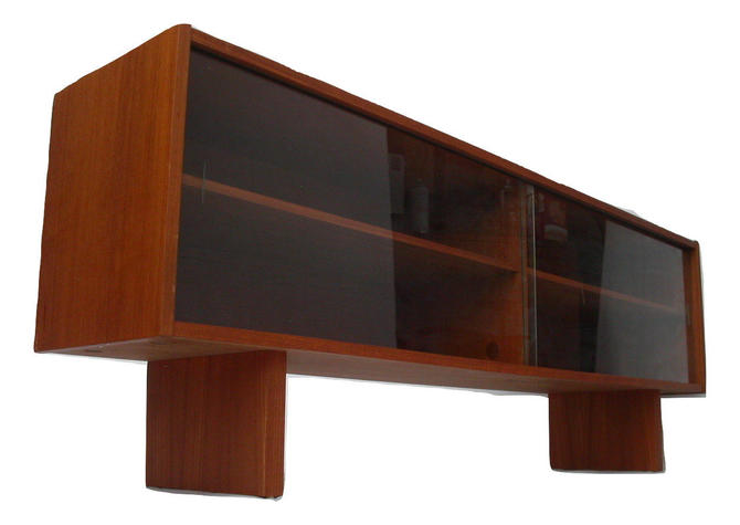 Long Danish Modern Teak Bookcase or Display Case / Credenza from Denmark Eames Mid-Century MCM by RetroSquad