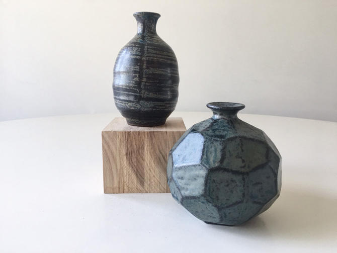 Mini Japanese pottery Weedpot Vase Japan Vintage Handmade midcentury Studio by CaribeCasualShop