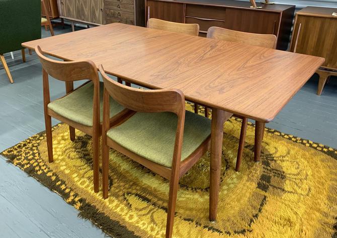 HANS WEGNER Mid Century Modern Teak + Oak DINING Table, Denmark by CIRCA60