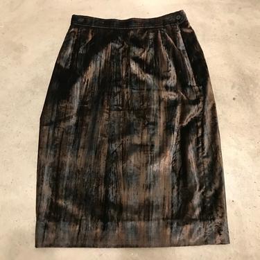 '90s YSL Rive Gauche Velvet Skirt, Waist 27\