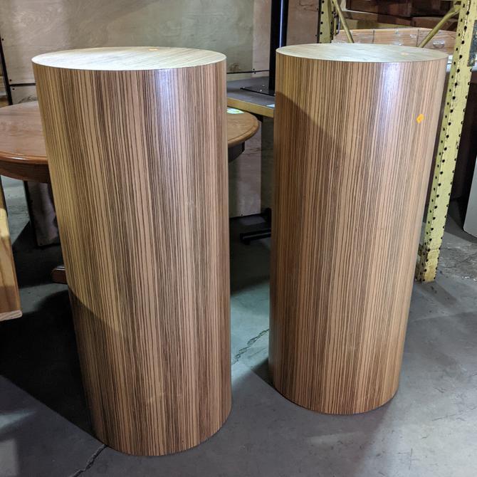 Striped Wood Pedestal