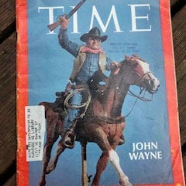 Vintage Time Magazine | 1969 Apollo 11 Moon Landing | John Wayne | Mid Century August 8 1969 by blindcatvintage
