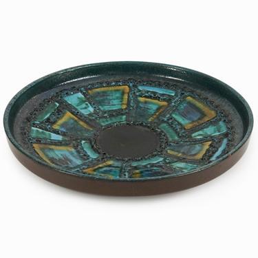 Carstens Tönnieshof Ceramic Platter Dripping Fat Lava 1075-31 Germany by VintageInquisitor