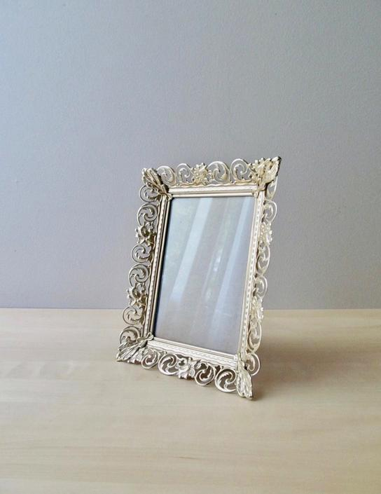 ornate golden brass picture frame 8 by 10 inch - wedding decor by ionesAttic