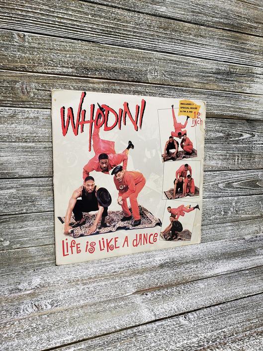 "Whodini LIfe is Like A Dance Vinyl, Vintage Hip Hop Rap LP, 1987 Vintage Whodini 12"" Record, Extended Remix Jive Arista, Vintage Vinyl by AGoGoVintage"
