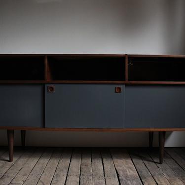Teak Credenza w/ Graphite Doors - $1195