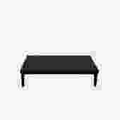 Kirk Black Leather Bench