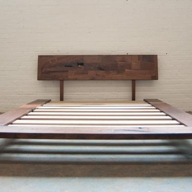FREE SHIPPING Solid Wood Platform Frame Bed - Walnut by OlivrStudio