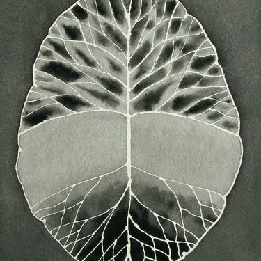 Root and Branch Brain (Black and White)  -  original watercolor painting by artologica